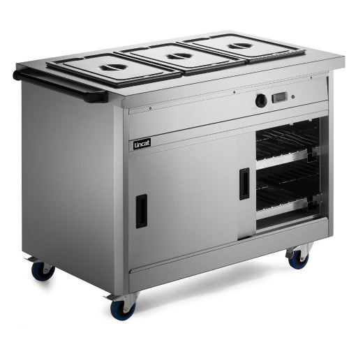 Lincat Panther P8B3 Mobile Bain Marie Top 1/1 GN Hot Cupboard